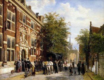 Cityview Hoorn | Cornelius Springer | oil painting