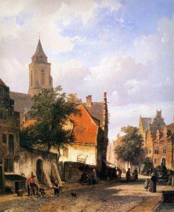 Church in Zaltbommel | Cornelius Springer | oil painting