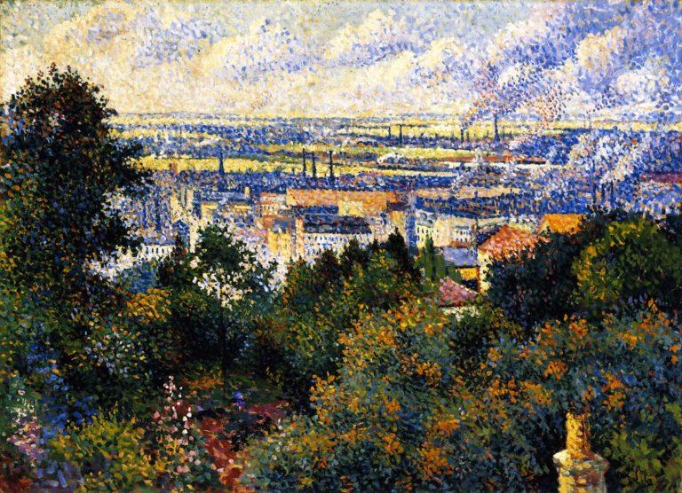 Region of Paris View of Montmartre | Maximilien Luce | oil painting