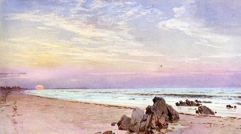 Beach with Rising Sun New Jersey | William Trost Richards | oil painting