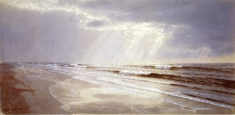Beach with Sun Drawing Water | William Trost Richards | oil painting
