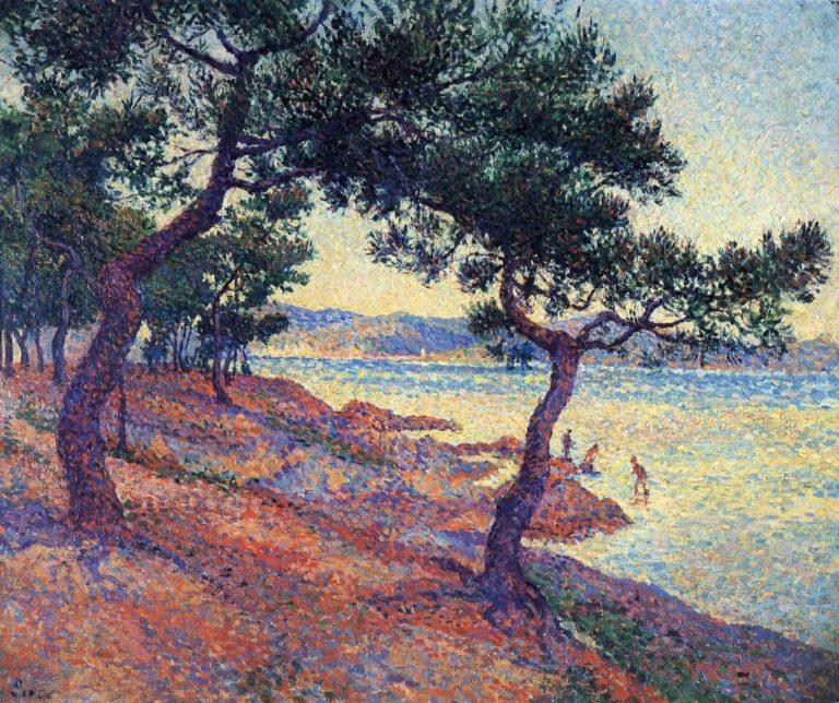 Saint Tropez Les Canoubiers | Maximilien Luce | oil painting