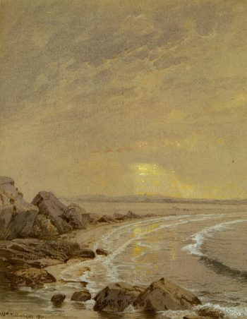 Breaking Sun Rhode Island Coast | William Trost Richards | oil painting
