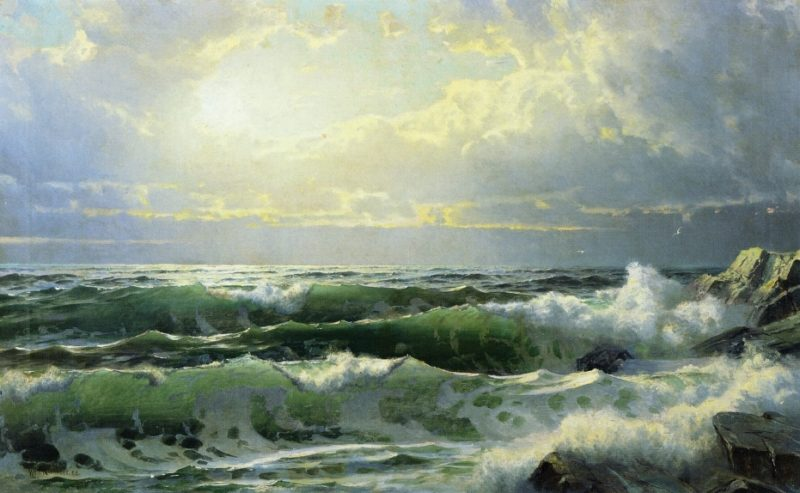 Breaking Waves 2 | William Trost Richards | oil painting