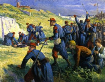 The Execution of Varlin | Maximilien Luce | oil painting
