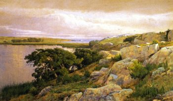 Cliffs Overlooking Bay | William Trost Richards | oil painting