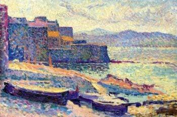 The Fishing Port at Saint Tropez   Maximilien Luce   oil painting