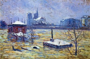 The Flood   Maximilien Luce   oil painting