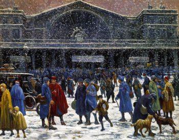 The Gare de l'Est in Snow | Maximilien Luce | oil painting