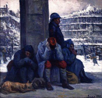 The Gare de l'Est in Winter | Maximilien Luce | oil painting