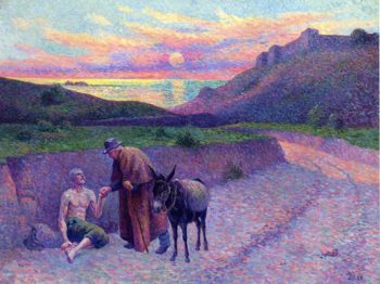 The Good Samaritan   Maximilien Luce   oil painting