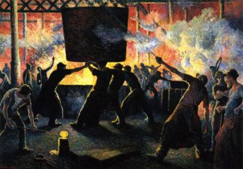 The Iron Foundry | Maximilien Luce | oil painting