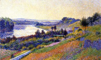 The Seine at Herblay | Maximilien Luce | oil painting