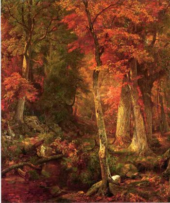 Forest Interior in Autumn | William Trost Richards | oil painting