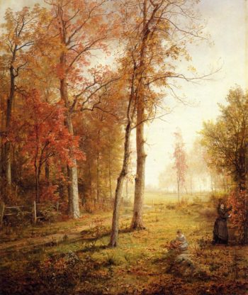 Gathering Leaves | William Trost Richards | oil painting