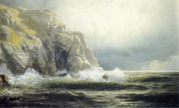 Guernsey Cliffs Channel Island | William Trost Richards | oil painting