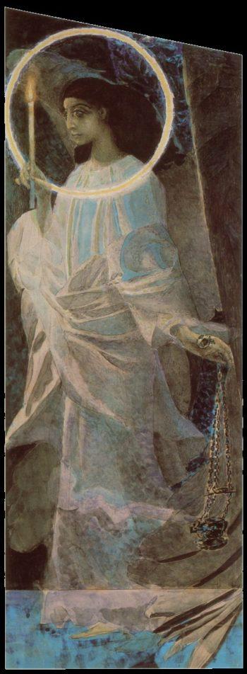 angel   Mikhail Vrubel   oil painting