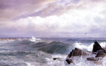 Gull Rock Newport Rhode Island | William Trost Richards | oil painting