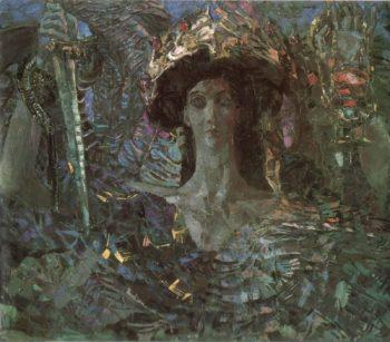 archangel Azrail   Mikhail Vrubel   oil painting