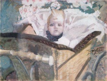 Artist's son   Mikhail Vrubel   oil painting