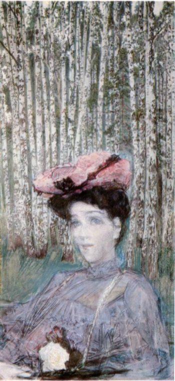 Artist's wife zabella Vrubel   Mikhail Vrubel   oil painting