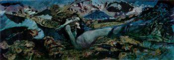 Demon fallen   Mikhail Vrubel   oil painting