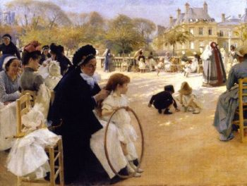 The Luxembourg Gardens Paris | Albert Edelfelt | oil painting