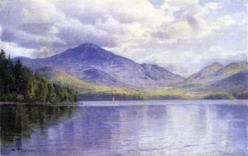 Lake Placid Adirondack Mountains | William Trost Richards | oil painting