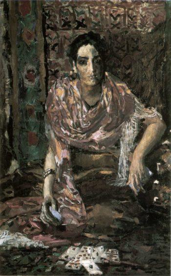 Fortune teller   Mikhail Vrubel   oil painting