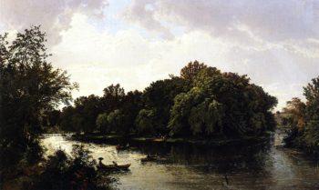 Lake Scene   William Trost Richards   oil painting