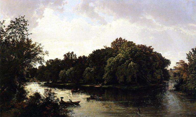 Lake Scene | William Trost Richards | oil painting