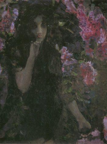 Lilac Detail   Mikhail Vrubel   oil painting