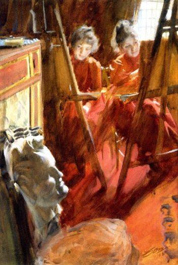 The Schwartz Girls | Anders Zorn | oil painting