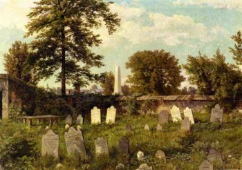 Leverington Cemetery | William Trost Richards | oil painting