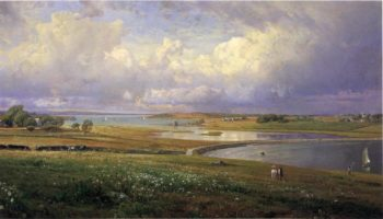 Mackerel Cove Jamestown Rhode Island | William Trost Richards | oil painting