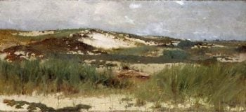 Nantucket Sand Dune | Abbott Handerson Thayer | oil painting