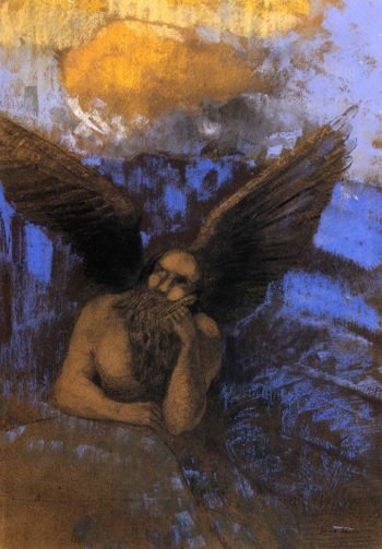 Aged Angel | Odilon Redon | oil painting