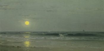 Moonrise over the Beach | William Trost Richards | oil painting