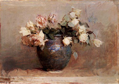 Roses   Abbott Handerson Thayer   oil painting