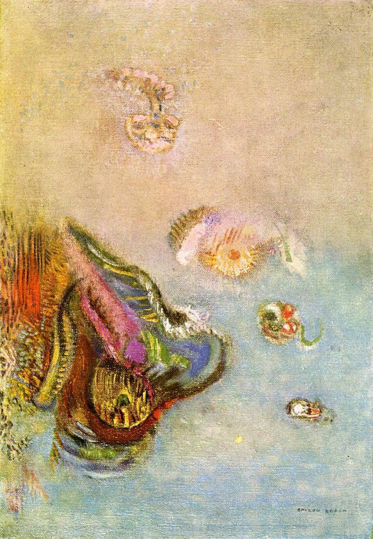 Animals of the Sea | Odilon Redon | oil painting
