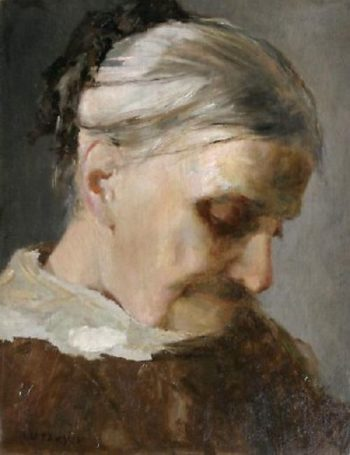 A Study of an Old Woman | Abbott Handerson Thayer | oil painting