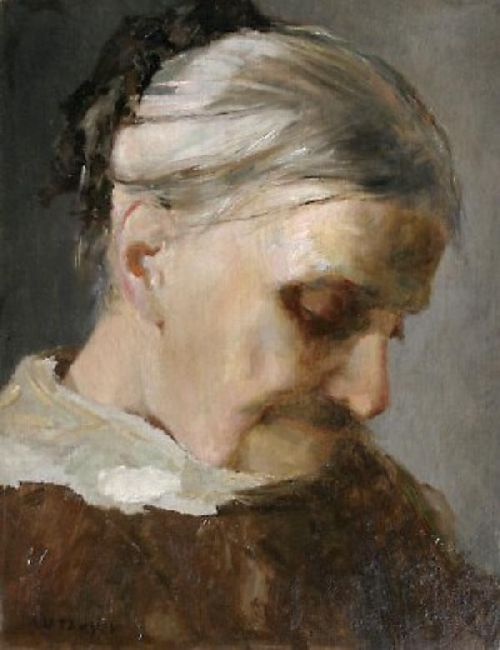 A Study of an Old Woman   Abbott Handerson Thayer   oil painting
