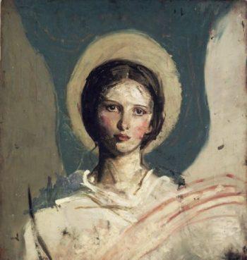 Head of a Boy   Abbott Handerson Thayer   oil painting
