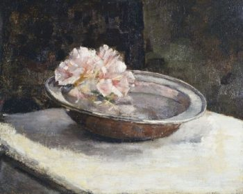 Still Life with Rhododendron | Abbott Handerson Thayer | oil painting