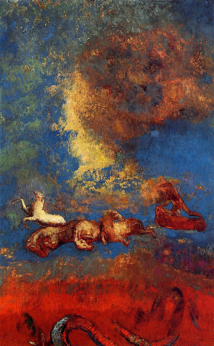 Apollo's Chariot   Odilon Redon   oil painting