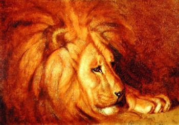 Lion at Rest | Abbott Handerson Thayer | oil painting