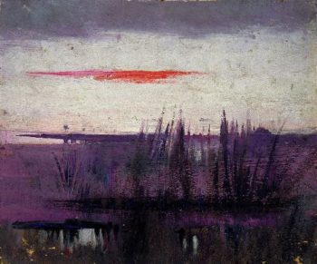 The Sky Simulated by White Flamingoes | Abbott Handerson Thayer | oil painting