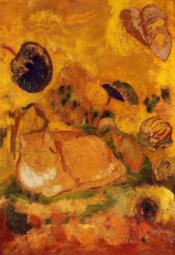 Bazon the Artist's Cat | Odilon Redon | oil painting