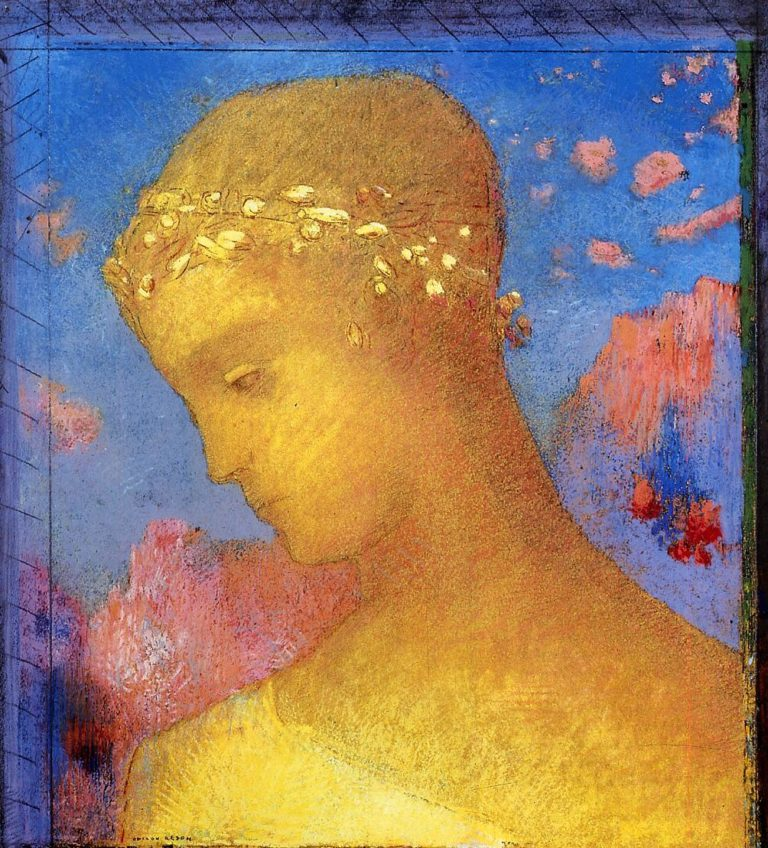 Beatrice | Odilon Redon | oil painting