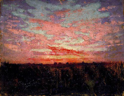 Sunset | Abbott Handerson Thayer | oil painting